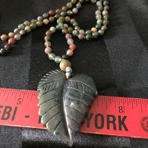 NWT Beaded Leaf Necklace JTV